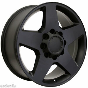 2011 2019 Chevy Silverado 2500 Satin Black 20 8 Lug Wheels Rims 3500 Hd 8 180