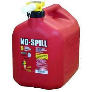 Fuel Can Jug Poly Gas Container 5 Gallon 20 Liters No Spill Emergency Backup Red