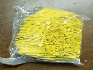 1000 Ct 2 1 2 Jumper Wire Ul 3266 22 Awg 7 Strand 125c 300v Yellow