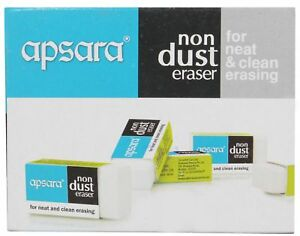 Apsara Non Dust Jumbo Eraser For Neat And Clean Erasing Free Shipping