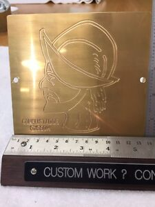 Conquistador Master Template Brass Engraving Plate For New Hermes Font Tray