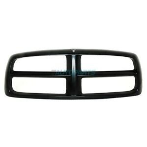 New Grille Shell Black Finish Fits 2002 2005 Dodge Ram 1500 Ch1200248