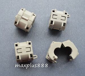 60pcs 9mm Clip on Clip On Rfi Emi Filter Snap Around Ferrite Gray Brand New