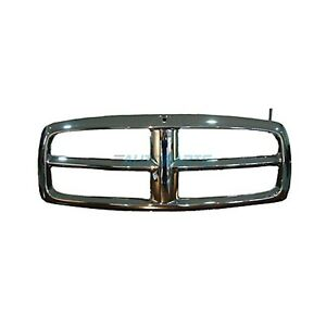 New Front Grille Shell Chrome Fits 2002 2005 Dodge Ram 1500 Ch1200260
