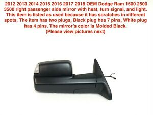 2012 2018 Dodge Ram 1500 2500 3500 Right Side Tow Mirror With Heat 68142668af