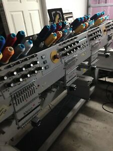 Melco Emc 10 4t Embroidery Machine 4 Head 10 Needle Commercial