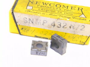 New Surplus 8pcs Newcomer Snmp 432 Grade N72 Carbide Inserts