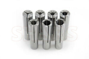 Shars 7 Pcs 2 Morse Taper Round Collet 1 8 3 16 1 4 5 16 3 8 7 16 1 2 2mt New