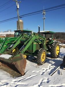 Used John Deere 2350 With Front End Bucket Loader