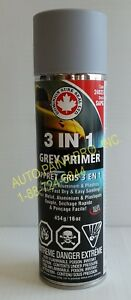 3 In 1 Grey Primer 16 Oz Aerosol Can Auto Paint For Aluminum Metal
