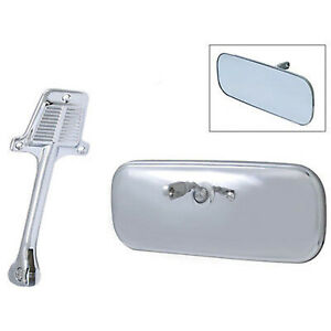 60 71 Chevy Gmc Pickup Truck Stainless Interior Rear View Glass Mirror