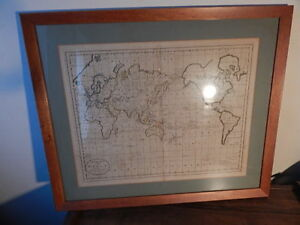 Mercator S Projection A Chart Of The World Showing Discoveries Of Captain Cook