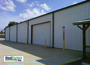 Steel Factory Mfg 30x60x16 Galvanized Metal Frame Storage Garage Building Kit