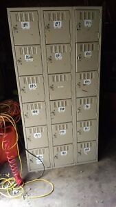 Storage Cubbie Locker 18 Individual Cubbies Metal 36 X 72 X 18