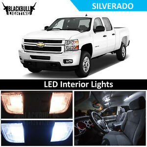 White Interior Led Light Accessories Package Kit Fits 2007 2013 Chevy Silverado