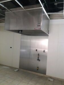 Captive Aire 5 Wide 4 Deep Stainless Steal Hood With Exhaust Fan