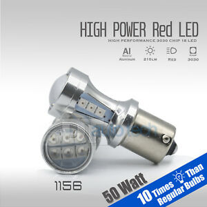 2018 1156 50w High Power Projector Led Red Turn Signal Brake Tail Lights Bulbs