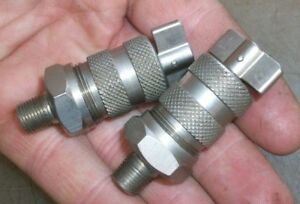 Small Grease Cups N o s Nickel Plated 1 8 Mounting Old Gas Engine Antique Car