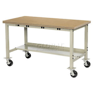 72 w X 36 d Mobile Production Workbench With Power Apron Shop Top Square Ed