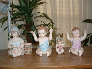 Vintage Porcelain Piano Babies Set Of Four Figurines