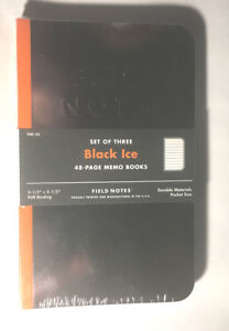 Field Notes Black Ice 3 pack Notebooks Fnc 33 Brand New Sealed