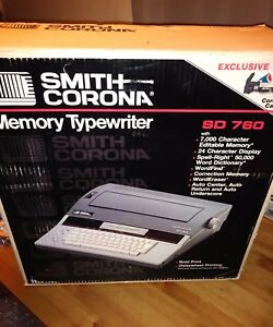 Smith Corona Sd760 Electric Memory Typewriter W Manual box And Paperwork