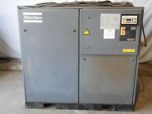 Atlas Copco Ga37 50 Hp Rotary Screw Air Compressor 100 Cfm 460 3ph