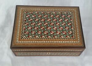 Vintage Antique Inlay Box Rare Ornate Pattern Must See Collectable Decorative