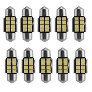 10 X 8led Canbus Festoon 31mm License Plate Map Dome Car Light 6418 C5w 6411