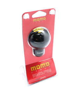 Momo Sk51 Black Aluminum Gear Shift Shifter Knob With Momo Logo Posk51blkluc