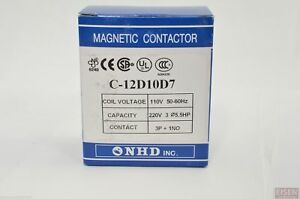 Nhd C 12d10d7 Magnetic Contactor For 5 5hp Motor 110v Coil Normally Open