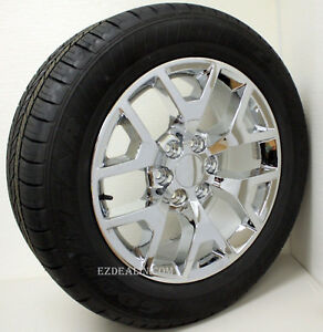 Chevy Silverado Suburban Tahoe 20 Honeycomb Chrome Wheels Rims Tires 2000 2018