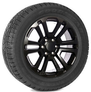 Chevrolet Silverado Tahoe Suburban 20 Black Satin Split Spoke Wheels Tires Rims