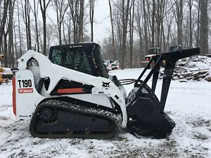 Bobcat T190 With Cat Hm312 Forestry Mulcher