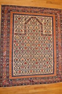 6 X 4 Shirvan Russia Handmade Genuine Antique Prayer Rug Ca 1850 Mint