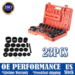 23pcs Front Wheel Drive Bearing Removal Adapter Puller Pulley Tool Kit With Case