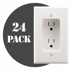 Hubbell Rr1510wz Recessed Tv Receptacle Outlet Tr 15a 120v White 24 pack