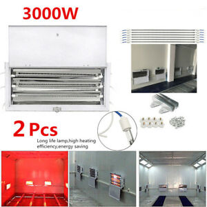 2sets 3kw Spray Baking Booth Oven Infrared Paint Curing Lamps Heating Light 220v