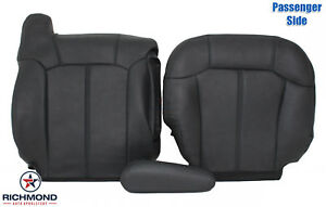 99 02 Chevy Silverado Lt Hd Passenger Side Complete Leather Seat Covers Dk Gray