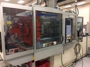 Krauss Maffei 110 Ton 7 Oz 110 160 C2 Injection Molding Machine 2003 Model
