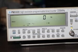 Philips Pm6680 Dc To 225 Mhz Digital Programmable Timer Counter
