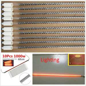 10pcs 1000w Spray Baking Booth Ir Infrared Paint Curing Lamp Heating Light Tubes