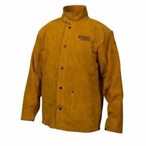 Lincoln Electric Brown Large Flame resistant Heavy Duty Leather Welding Jacket