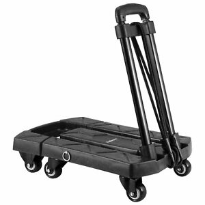 Ollieroo Cart Compact Personal Folding Hand Truck Luggage Cart With 6 Wheels And