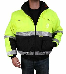 Safety Depot Safety Jacket Class 3 Ansi Approved 8 Pockets Reversible Clear Id