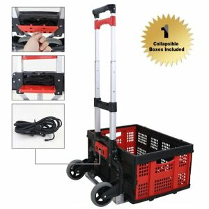 Finether Cart Aluminum Folding 2 wheel Hand Truck Lightweight Portable Trolley