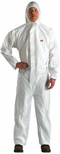3m 49789 Disposable Protective Coverall Safety Work Wear 4510 blk l