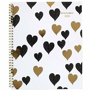 At a glance Weekly Monthly Planner January 2018 December 8 1 2 X 11 Love