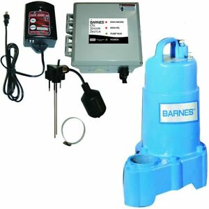 Barnes Boss Oil Sensor Switch W Sp50x 1 2 Hp Sump Pump Hight Water Alarm