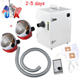 Usa Dental Lab Digital Single row Dust Collector Vacuum Cleaner 2 Suction Base